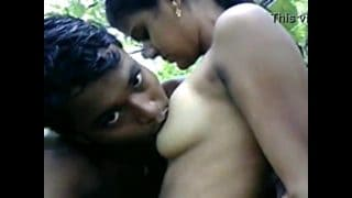 College students sex in jungle