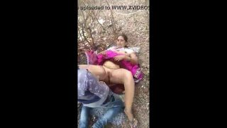 Big boobs Indian village bhabhi outdoor sex in jungle