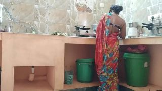 desi Indian sexy milf maid fucked by owner In kitchen