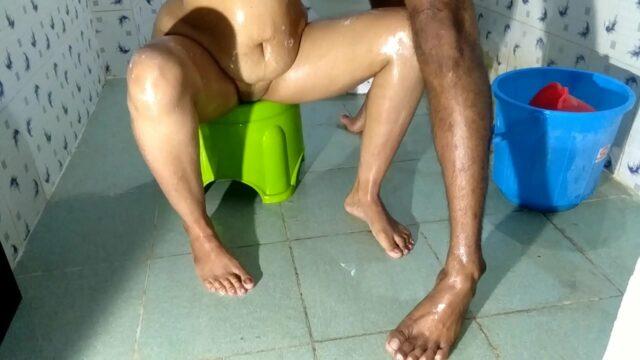 gujarati xxx horny Indian wife fucked by devar in bathroom sex