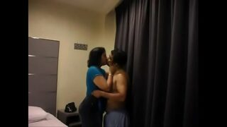 Desi young hot housewife with her lover sex in hotel room