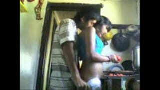 Bangalore young bhabhi xxx hot anal sex in kitchen by devar
